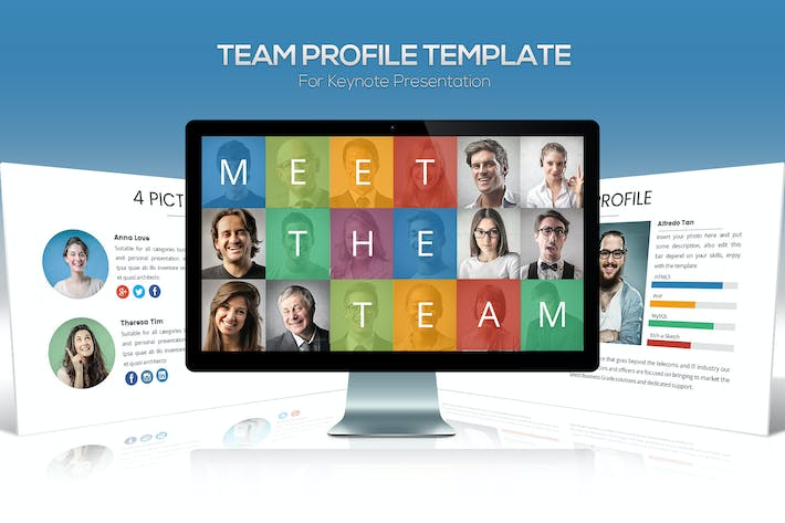 Thumbnail for Team Profile Keynote Template