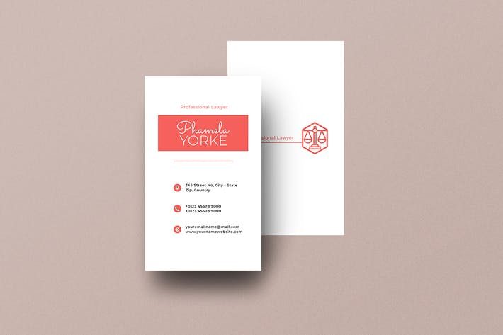 Vertical Business Card Lawyer Vol. 6