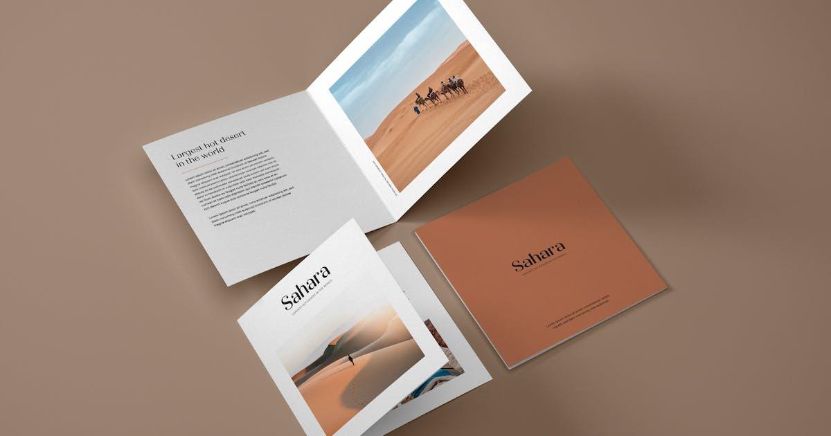 Download Square Bifold Brochure Mockup by deeplabstudio