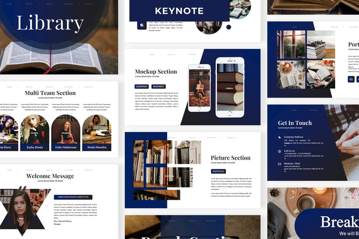 Thumbnail for Library - Business Keynote Template