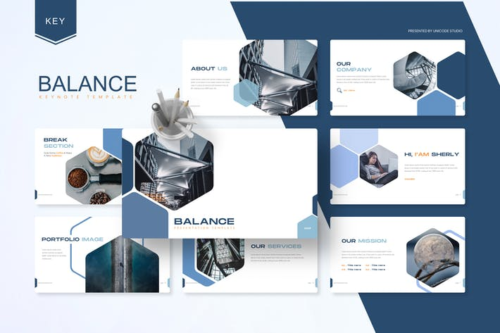 Thumbnail for Balance -  Business Keynote Template