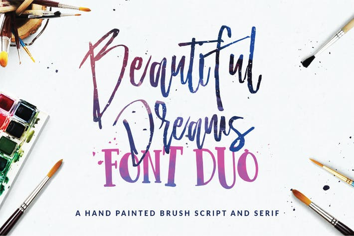 Thumbnail for Beautiful Dreams - Font Duo Brush Font