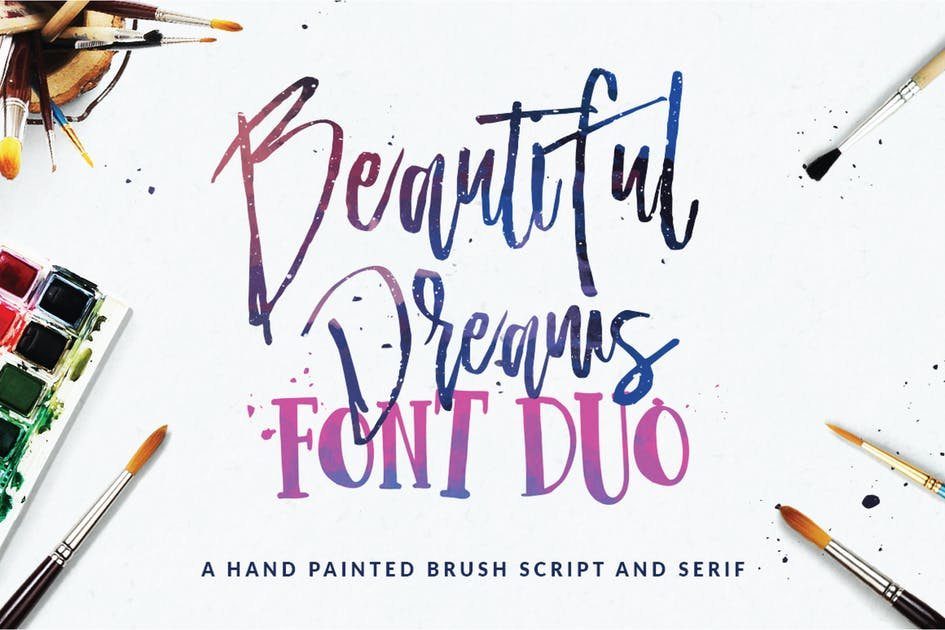 Download Beautiful Dreams - Font Duo by dirtylinestudio