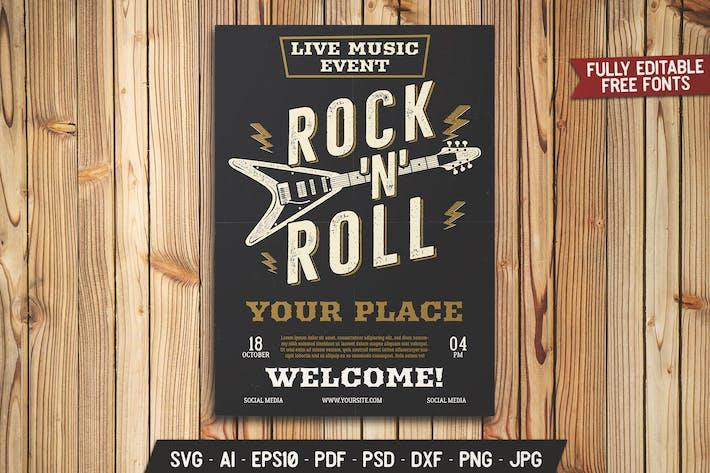 Thumbnail for Rock N Roll Music Festival Flyer