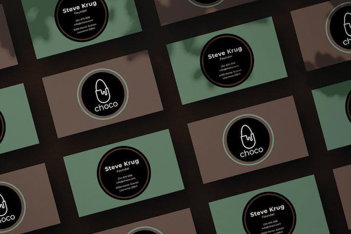 Thumbnail for Visitenkarte der Schokoladenfabrik