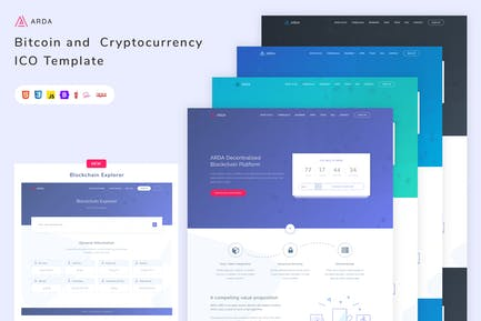 Arda Bitcoin and Cryptocurrency ICO HTML Template