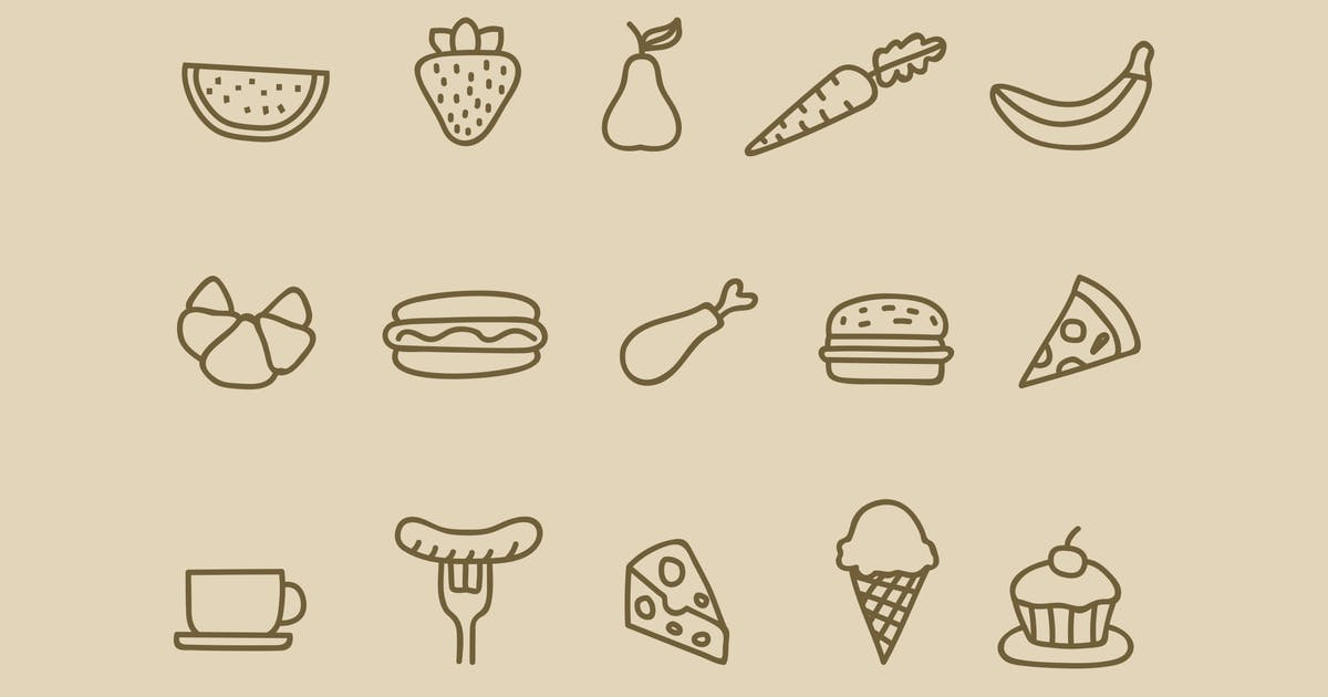15 Food Drink Doodles by creativevip