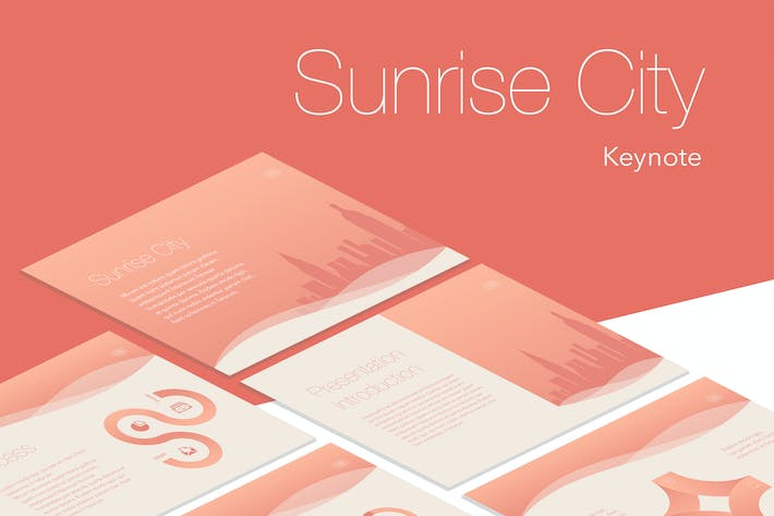 Cover Image For Sunrise City Keynote Template
