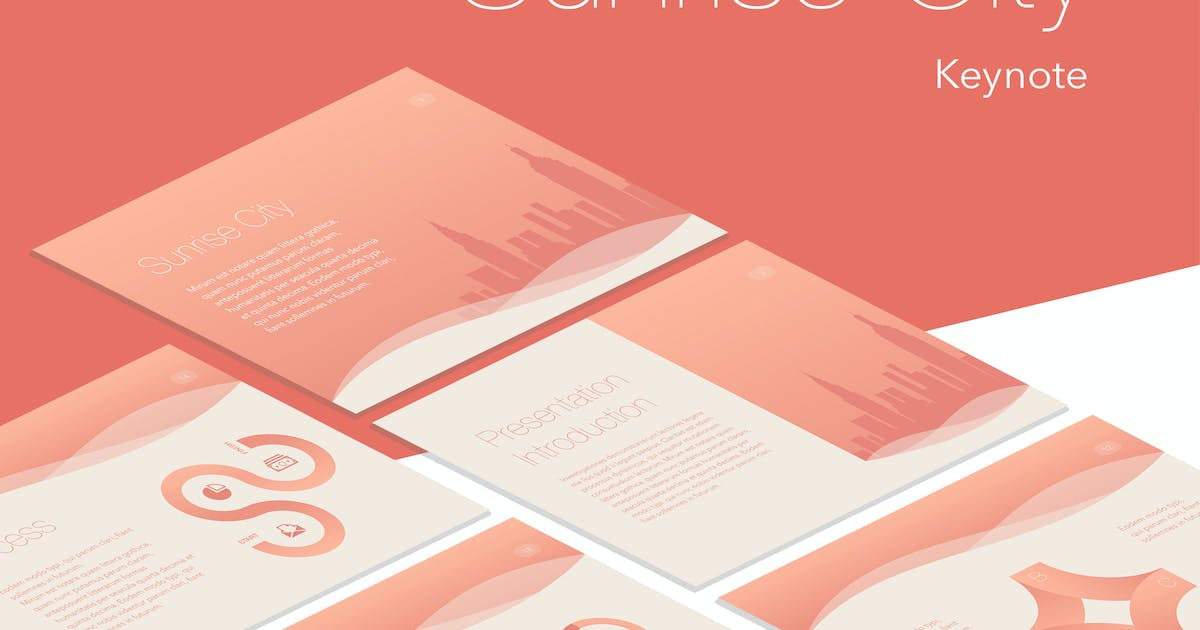 Sunrise City Keynote Template by Unknow