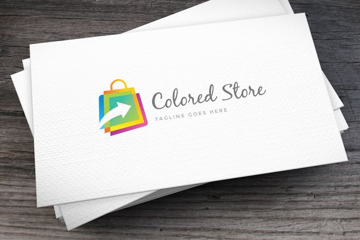 Thumbnail for Colored Store Logo Template