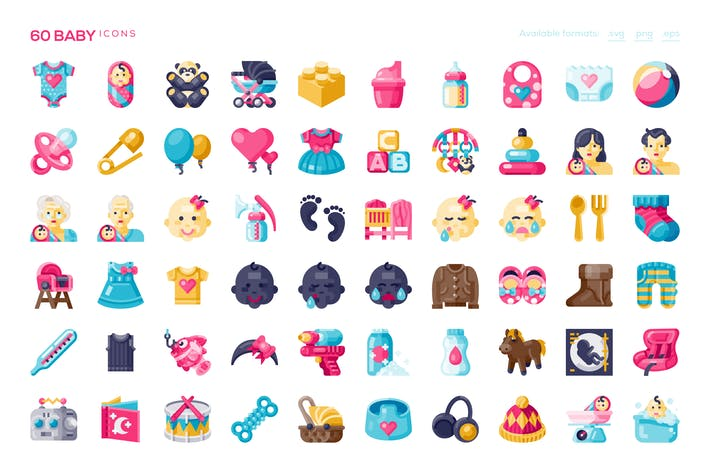 Thumbnail for 60 Baby Icons