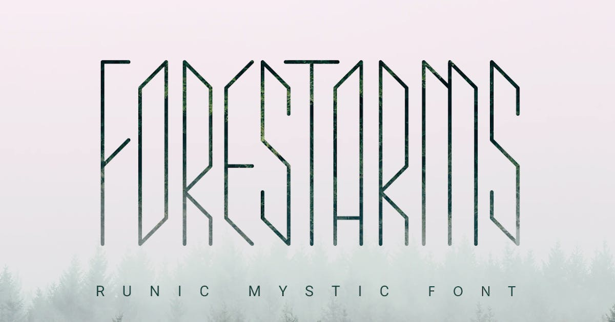 Download Forestarms | mystic font by wowomnom