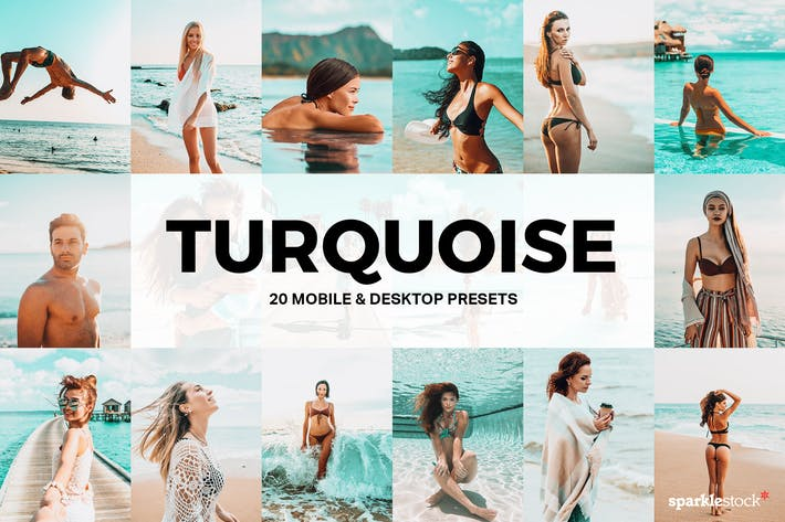 Cover Image For 20 Turquoise Lightroom Presets and LUTs