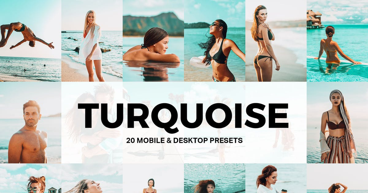 Download 20 Turquoise Lightroom Presets and LUTs by sparklestock