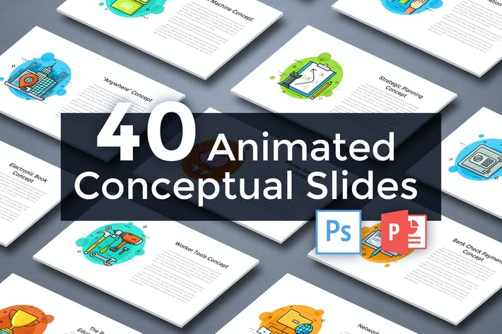 Thumbnail for 40 Animated Conceptual Slides for Powerpoint p.3