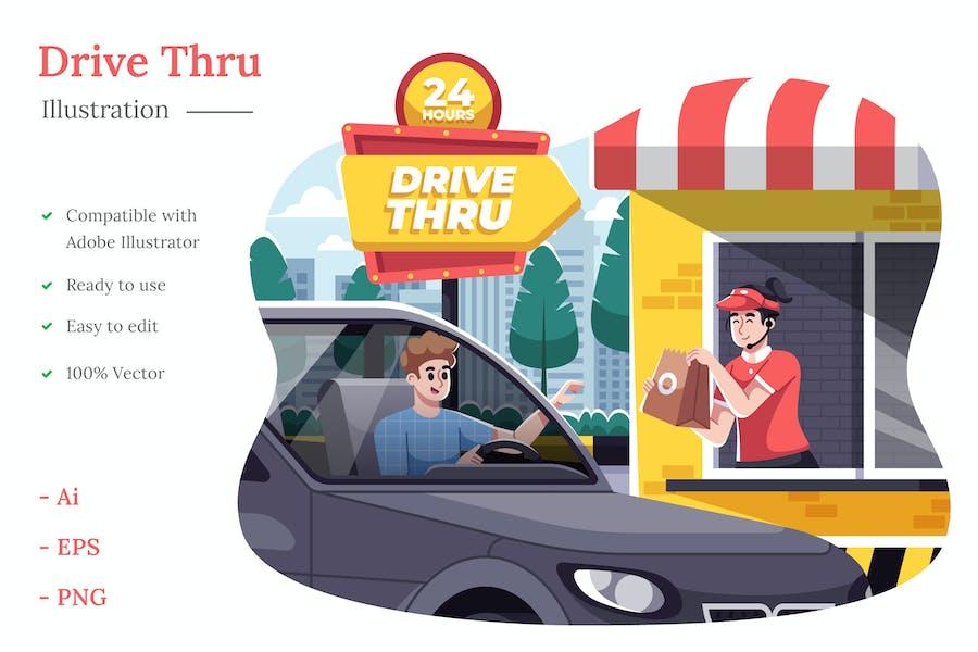 Ilustración Drive Thru