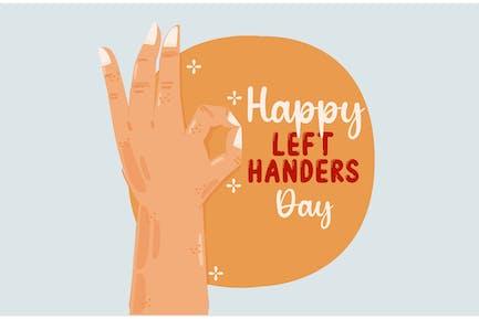 Left Handers Day Illustration