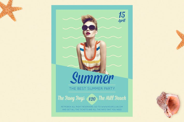 Thumbnail for Summer Music Party Flyer Poster