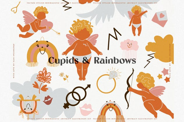 Cupids & Cute Rainbows - product preview 0