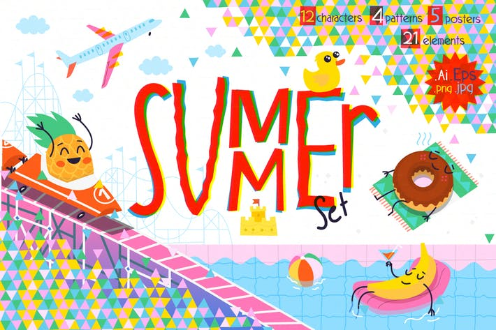 Thumbnail for Summer Fun Illustrations