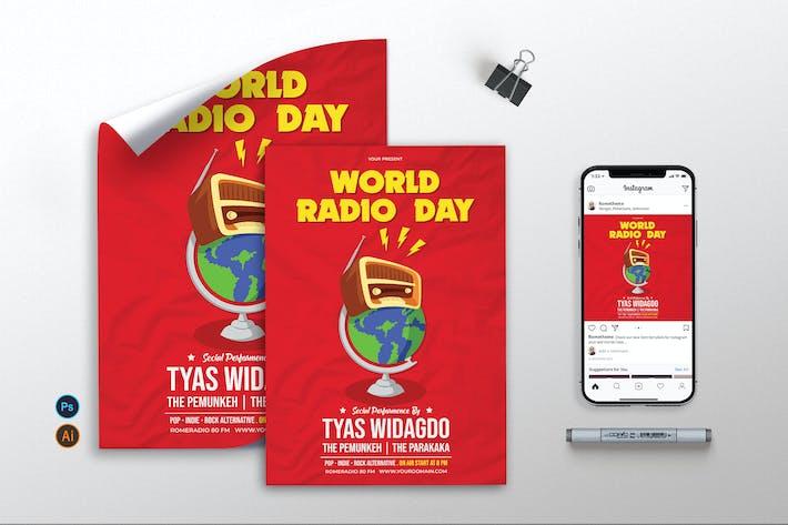 Thumbnail for World Radio Day - Flyer, Poster & Instagram KF