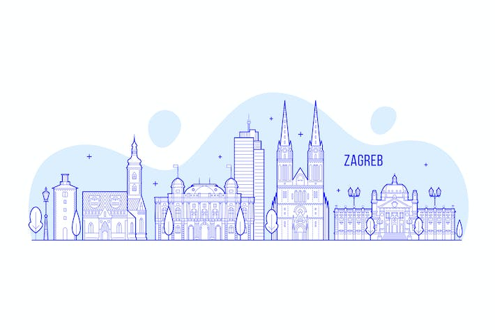 Thumbnail for Zagreb skyline, Croatia