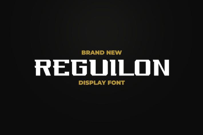 REGUILON SPORT DISPLAY FONT
