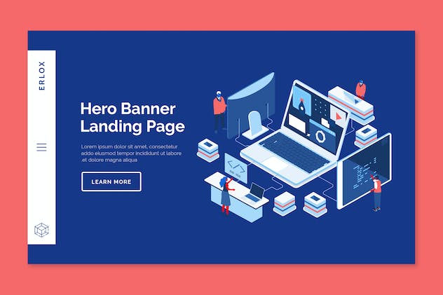 Erlox - Hero Banner Template