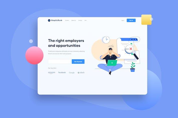 Thumbnail for Unavailable Job Landing Page Illustration