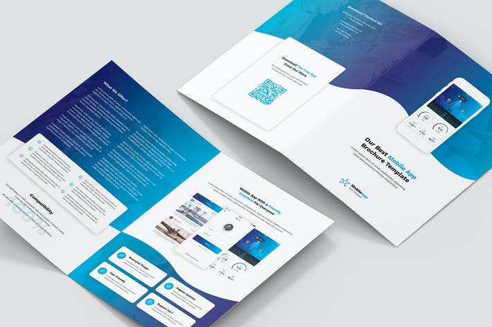 Cover Image For Brochure – Mobile App Bi-Fold