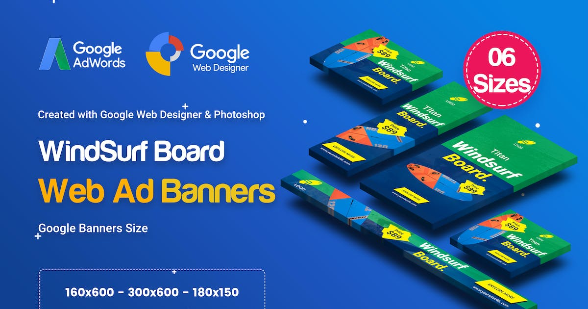 Download C38 - Surf's Up HTML5 Banners Ad - GWD & PSD by iDoodle