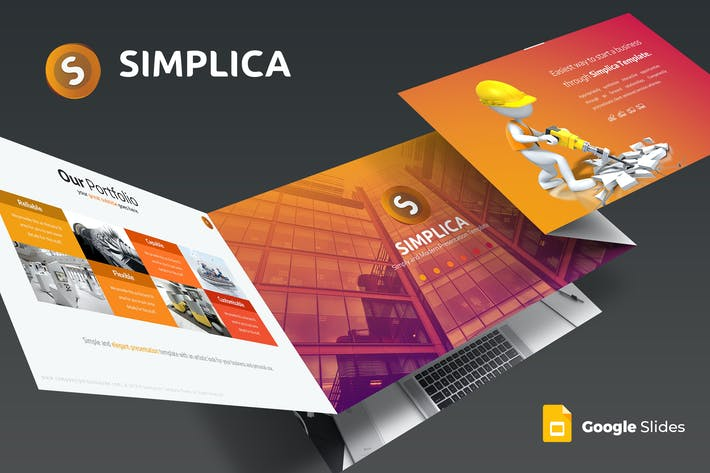 Thumbnail for Simplica - Google Slides Template
