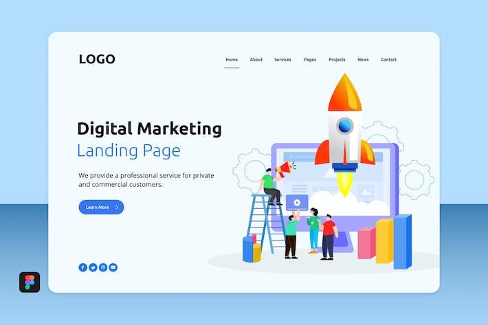 Thumbnail for Digital Marketing Landing 2