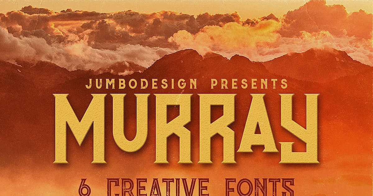 Download Murray - Vintage Style Font by cruzine