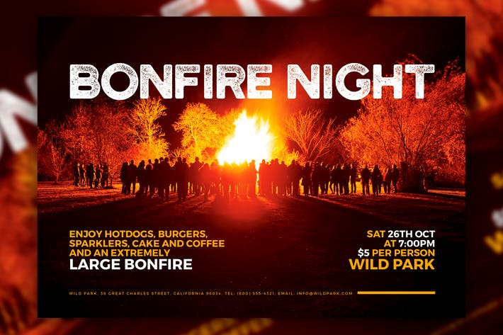 Thumbnail for Bonfire Night A5 Flyer