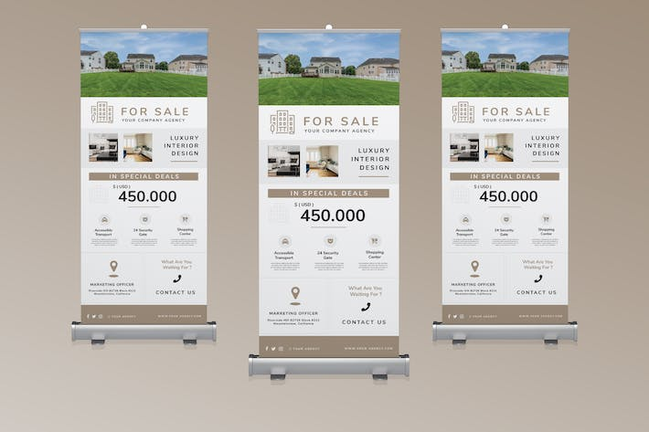 Thumbnail for Roll Banner Real Estate Promotion