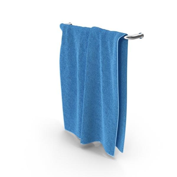 Blue Towel on Rack