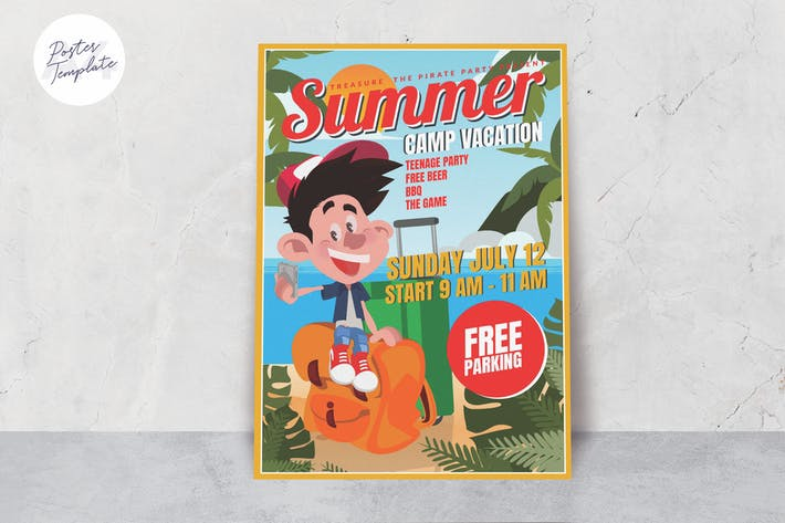 Cover Image For Summer Camp Poster Template