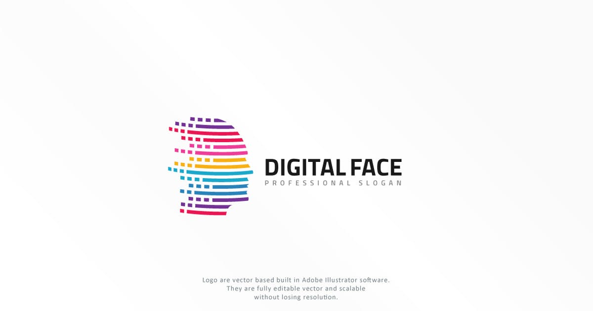 Download Virtual Human Head Logo by designhatti