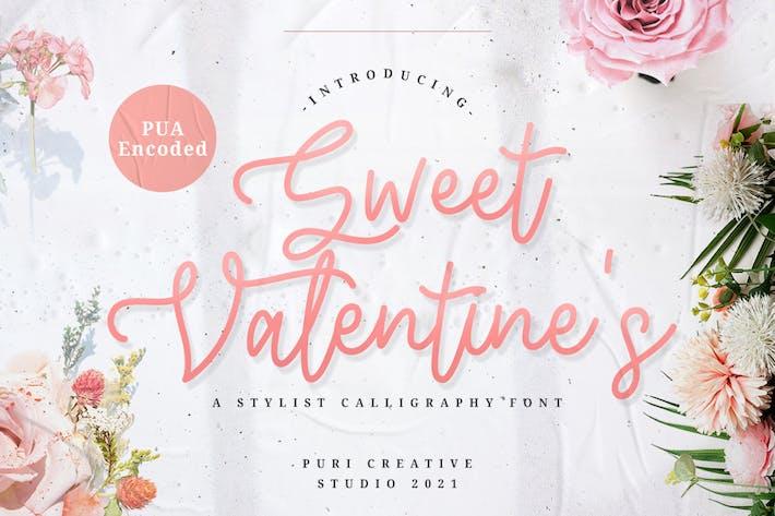 Sweet Valentin - Police de calligraphie élégante