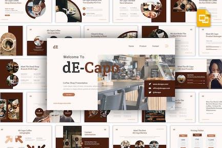 Decapo - Кофейня Google Слайды Шаблон