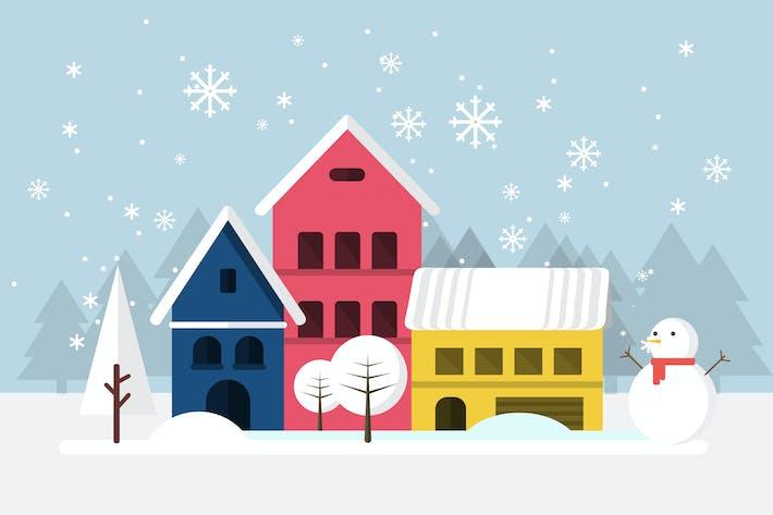 Winter - Illustration Hintergrund