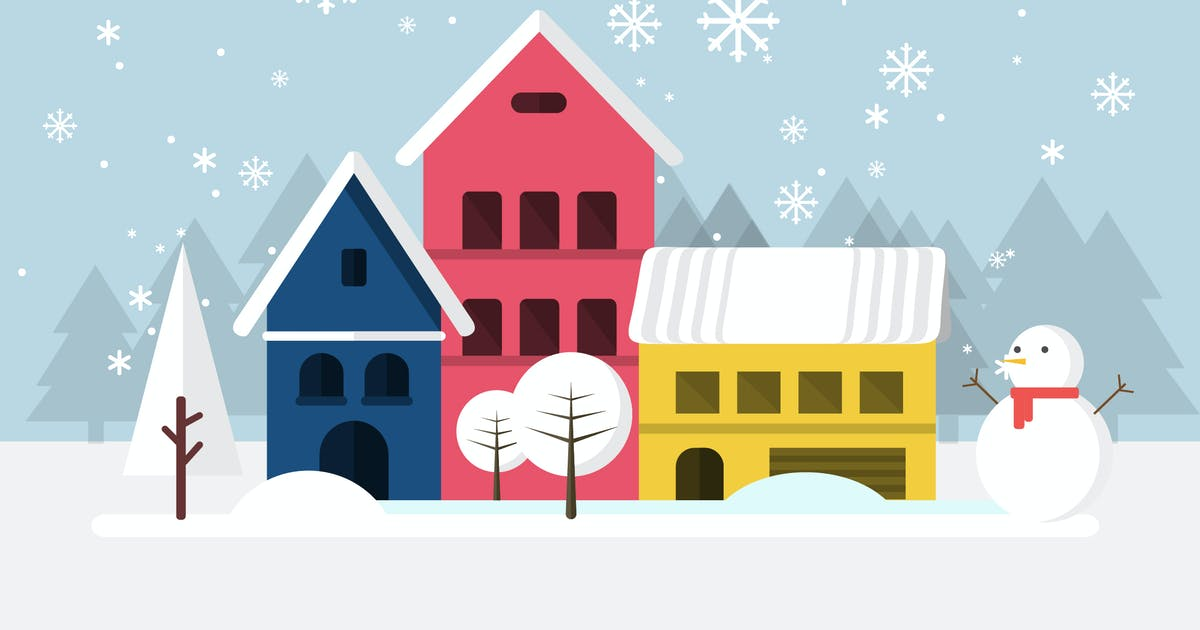 Download Winter - Illustration Background by Graphiqa