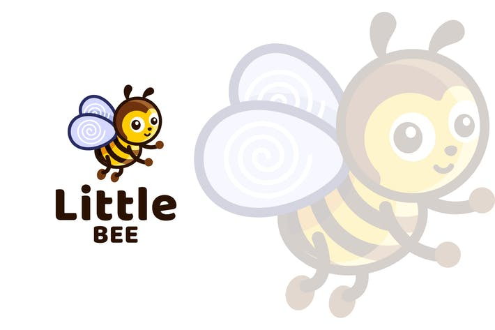 Thumbnail for Little Bee Kids Cute Logo Template