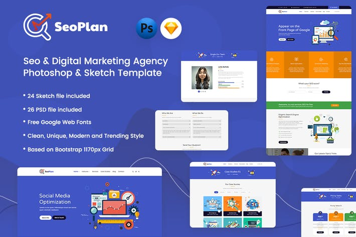Thumbnail for SeoPlan - SEO & Digital Marketing Template