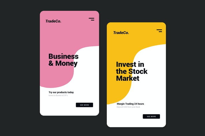 Thumbnail for Finance and Investing - Mobile UI Kit
