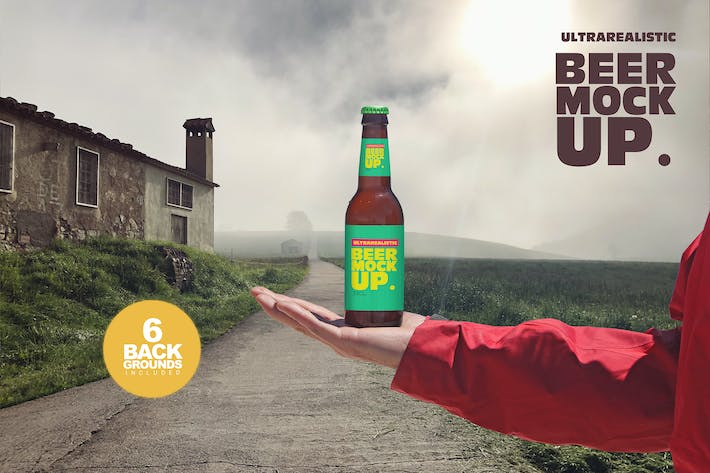 Thumbnail for Outdoor Backgrounds Beer Mockup