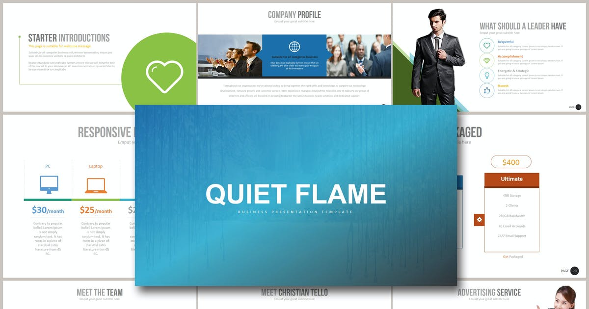 Download QUIET FLAME Keynote by Artmonk