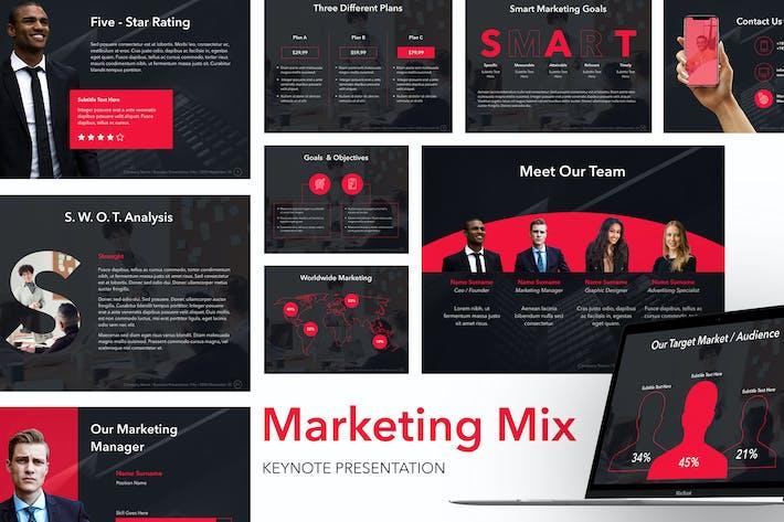 Thumbnail for Шаблон Keynote маркетингового смешивания