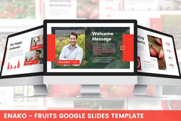 Enako - Fruits Google Slides Template